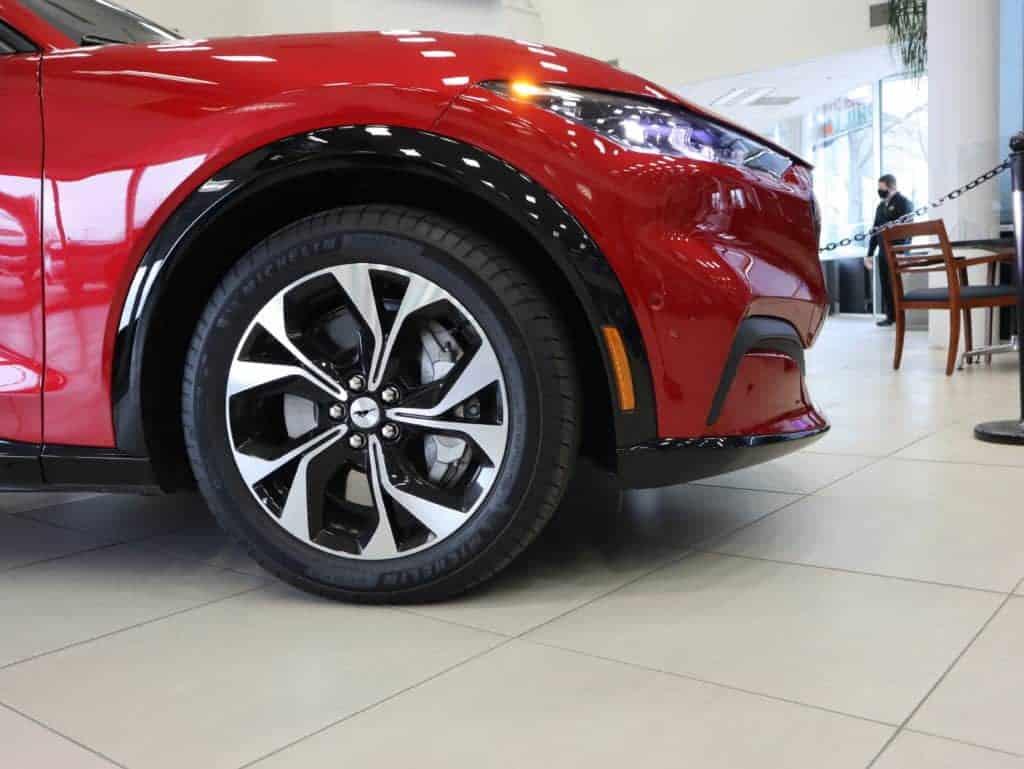 Rapid Red Mach-E Premium wheels