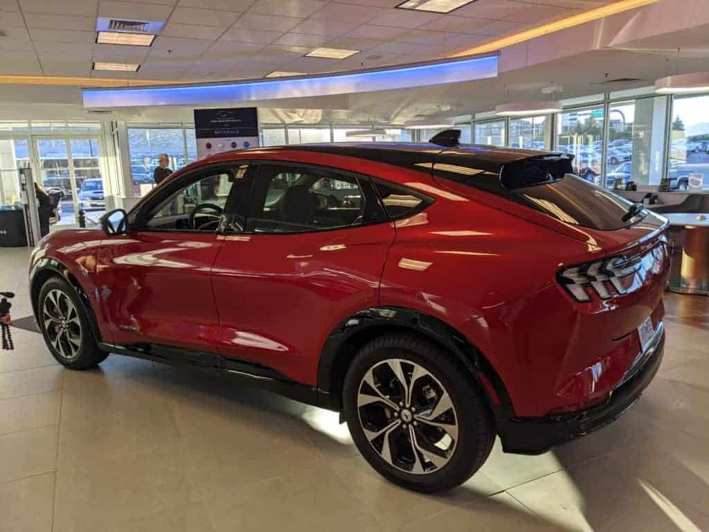 Rapid Red Premium Mach-E side profile