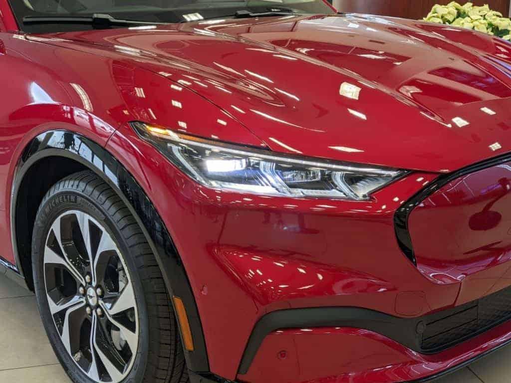 Rapid Red Mach-E Headlight